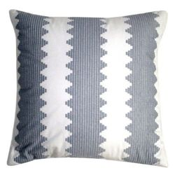 18Inx18in Nate Berkus Toss Decorative Pillow - Grey/White