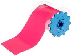 "VnM SignMaker FLUPK-3102 Fluorescent Pink Vinyl Tape - 75' L x 4"" W"