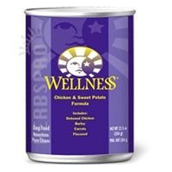 Wellness Chicken and Sweet Potato Canned Dog Food 12.5 Oz