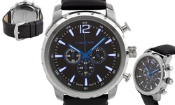 Alexander Dubois Margaux Men's Multi-Function Watch - Blue/Black/Silver