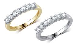 Brilliant Diamond 0.50CTTW Diamond Band - White Gold - Size: 6