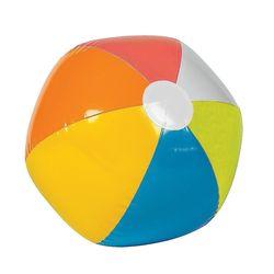 "Fun Express Inflatable Beach Balls 12PK - Rainbow Color - Size: 12"""