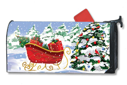 MailWraps Magnet Works Sleigh Stop Mailwraps Brand Mailbox Cover