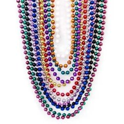 "Fun Express Women's Metallic Beaded Necklaces - 48Pc - Size: 33"""