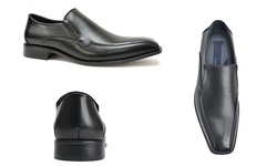 Joseph Abboud Men's Dylan Slip-On Dress Shoes - Black - Size: 12