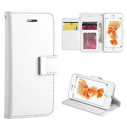 Dream Wireless Compartment Card Slot Wallet Pouch Phone Case for iPhone 7 - Retail Packaging - White