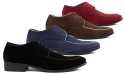 Royal Men's Moc Toe Lace Up Dress Shoes - Dark Brown - Size: 13