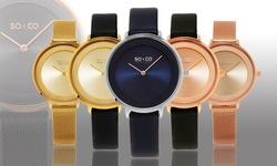 SO & CO New York Women's Modern Dress Watch - Gold Band/Dial