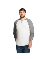 Mossimo Men's Big & Tall Long Sleeve Thermal Shirt - White - Size:L