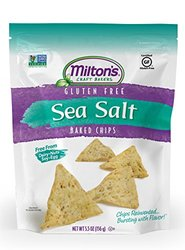 Milton's Gluten Free Craft Bakers Baked Chips 5.5 Ounce - Sea Salt