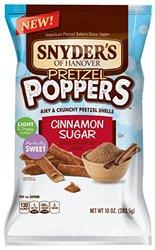 Snyder's of Hanover Pretzel Poppers Cinnamon Sugar Pretzel Shells 10 Oz