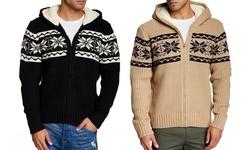 Xray Knit Sweater: Khaki/large