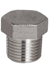 """Stainless Steel 316 Cast Pipe Fitting Hex Head Plug Class 150 - Size: 1/2"""""""