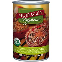 Muir Glen Organic Diced Tomatoes Fire Roasted with Green Chilies 14.5oz
