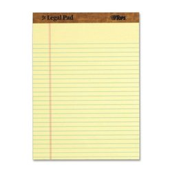 """TOPS 50-Sheets Wide Ruled Perforated Legal Pads - 8.50"""" x 11.75"""""""