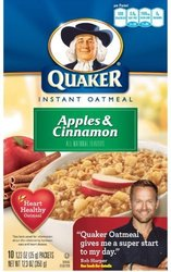 Quaker Instant Oatmeal Apple Cinnamon Pk [Pack of 3] 10