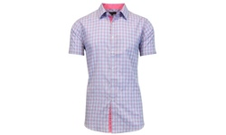 Men's Slim-Fit Short-Sleeve Button-Down Shirts - Multi - Size: XXL