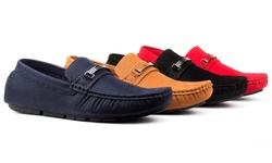 Royal Men'sslip-on Driving Moccasins: Navy/10