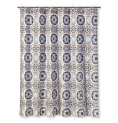 Ecom Shower Curtain Mudhut Tribal Design - Multi-colored