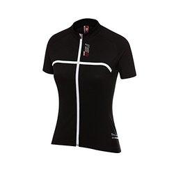 NSR Women's Line Short Sleeve Jersey - Black - Size Large