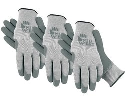 Textured Rubber Coated Knit Liner Garden Glove, 66CF, Size: Extra Large, 3 Pair Combo Pack