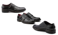 Vintage Foundry Men's Mock Monk Strap Dress Shoes - Black - Size: 9