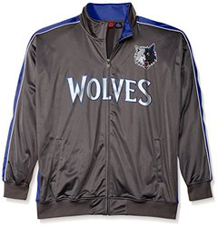 NBA Minnesota Timberwolves Men's Reflective Track Jacket, 5X, Charcoal/Blue