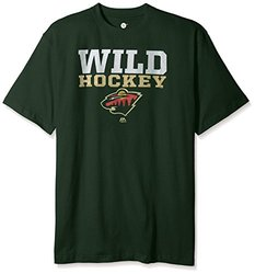NHL Minnesota Wild Men's Short Sleeve Screen Print T-Shirt, 4X/Tall, Dark Green