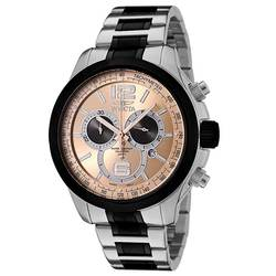 Invicta Gent's Chrono Rose Gold Dial Two Tone Steel Watch