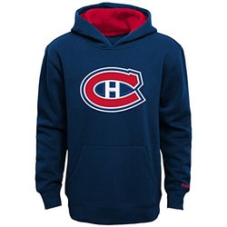 Reebok Boy's NHL Montreal Canadiens Basic Hoodie - Navy - Size: Large