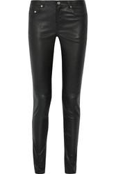 Saint Laurent Paris Women's Stretch-Leather Skinny Pants - Size: 29