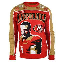 KLEW NFL San Francisco 49ers Player Ugly Sweater - Red - Size: Small