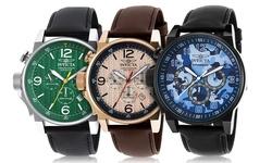 Invicta Men's Chronograph Watch: Invicta-20132syb Black Band-green Dial