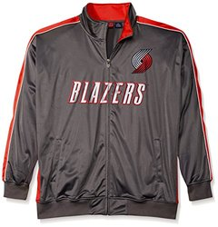 Majestic NBA Men's Portland Trail Blazers Jacket - Charcoal/Red - Size: 6X