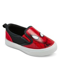 Marvel Boy's Spider Man Canvas Sneakers - Red - Size: 7