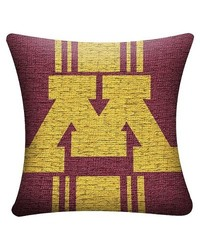 "Bama NCAA Minnesota Golden Gophers Woven Pillow - Multi - Size: 20"" x 20"""