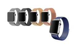 Tribeca Milanese Mesh W/magnet Closure Band For Apple Watch: 42mm/Gold