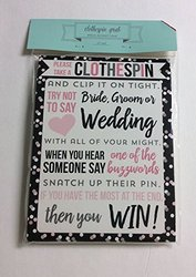 Horizon Clothespin Grab Bridal Shower Game for 20 people