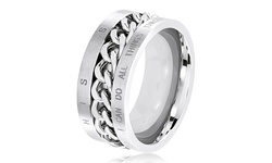 Men's Bible Verse Rings in Stainless Steel - Size: 10