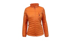 Spire by Galaxy Women's Puffer Jacket with Zipper - Orange - Size: Large