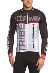 Jolly Wear Men's Diego Cycling Long Sleeve Jersey - Grey - Size: Medium
