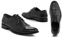 Adolfo Men's Euro Oxfords Shoes - Black - Size: 7