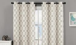 Modern Window Curtain Panel: Grey