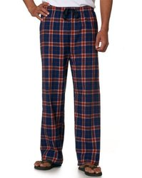 Boxercraft Adult Team Pride Flannel Pants (Orange/Navy) (Small)