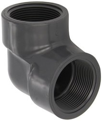 """Spears PVC Pipe Fitting, 90 Degree Elbow, Schedule 80, Gray, 4"""" NPT Female"""