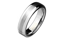 Tungsten & Titanium Unisex Comfort Fit Ring Band - Smooth - Size: 13