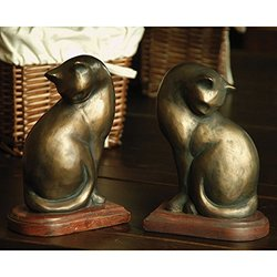 """SPI - Pair of Cat Bookends - 3.5x5.5x8"""" (50300)"""