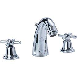 Cifial 294.150.620 Sea Island Widespread Bathroom Faucet with Metal Cross Handles, Satin Nickel