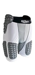 Schutt Protech Padded Compression Shorts - White/Grey - Size: Small