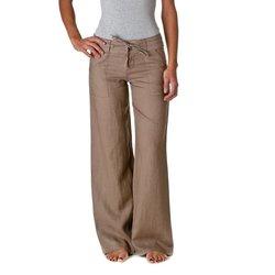 Love Tree Women's 100% Linen Wide Leg Pants - Size: Small